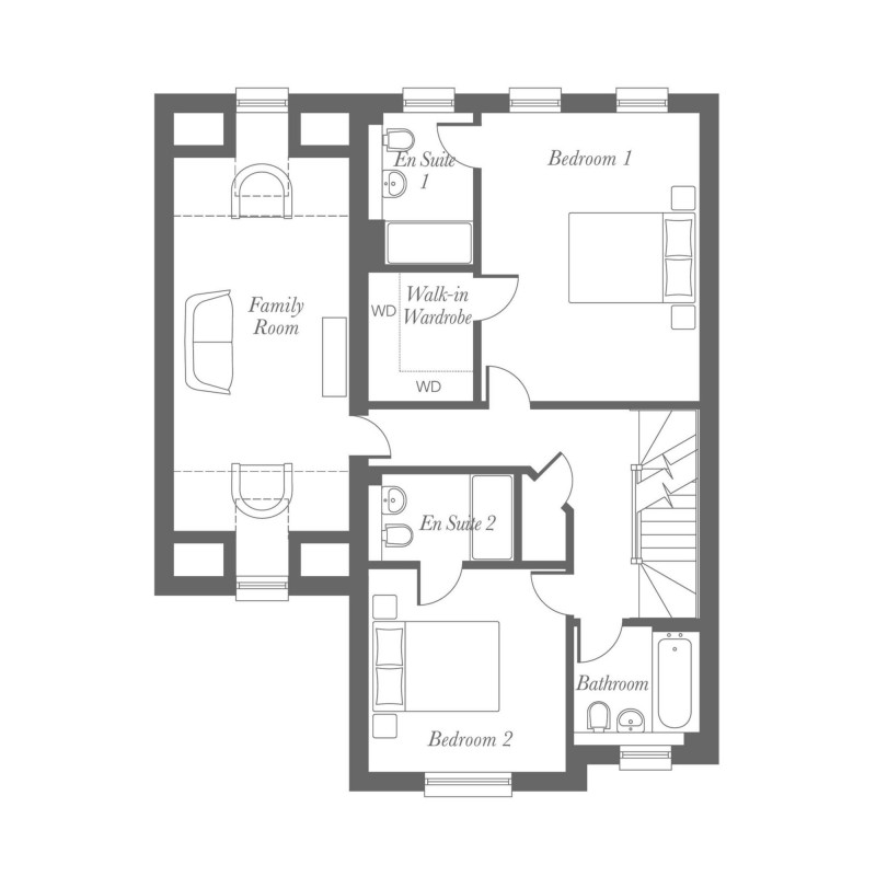 Chamberlain First Floor Floorplan