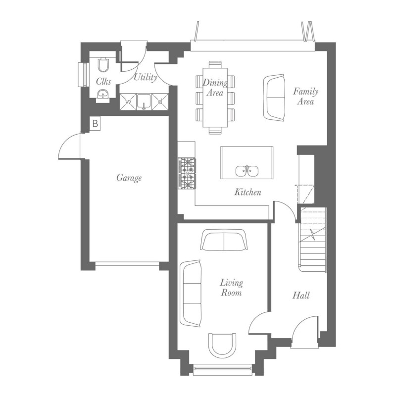 Chamberlain Ground Floor Floorplan