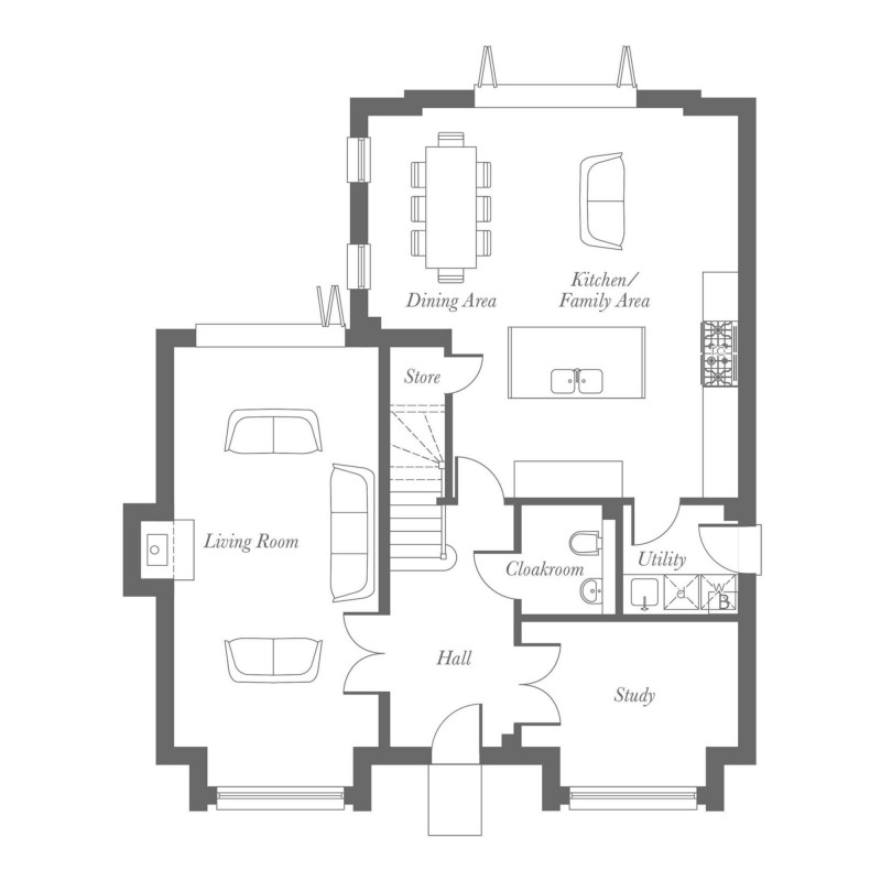 Fielding Plus Ground Floor Floorplan