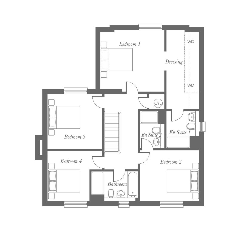 Fielding First Floor Floorplan