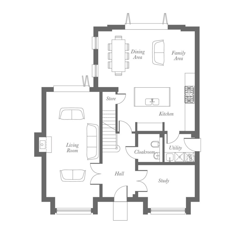 Fielding Ground Floor Floorplan