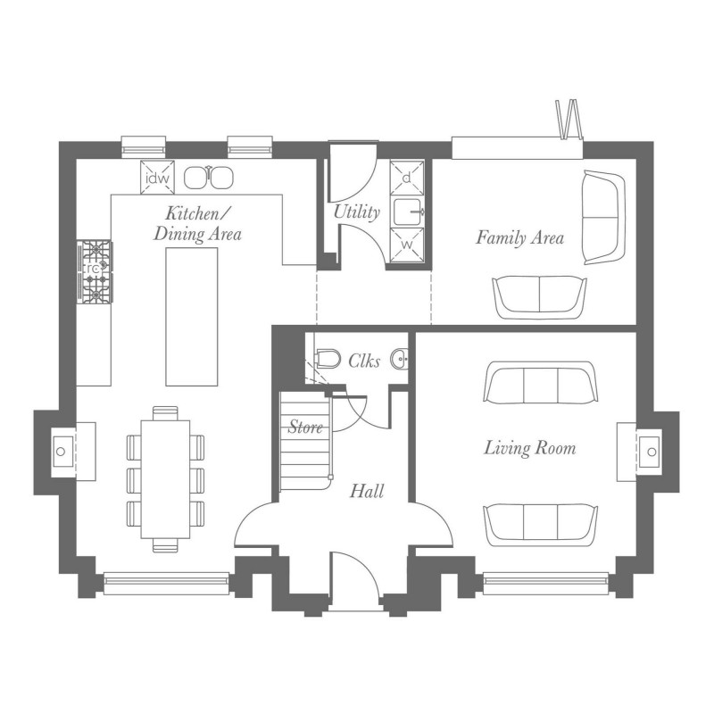 Mayfield Ground Floor Floorplan