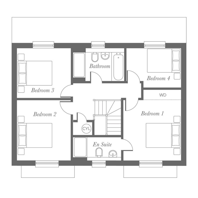 Milton First Floor Floorplan