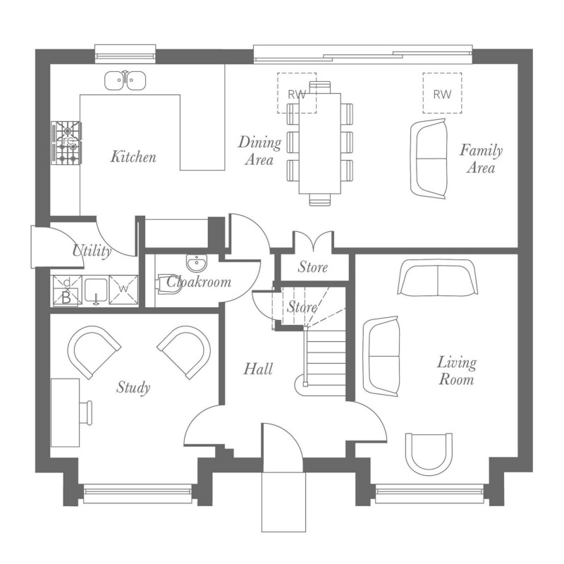 Milton Ground Floor Floorplan