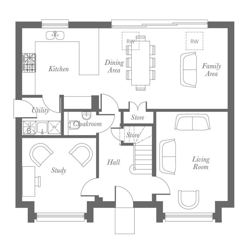 Milton Ground Floor Floorplan