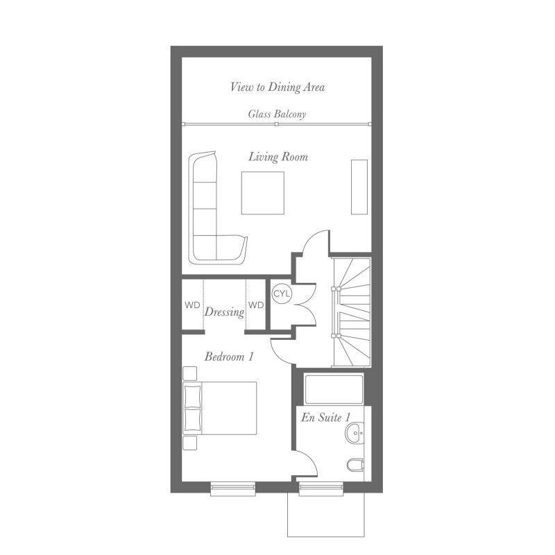 Totley First Floor Floorplan