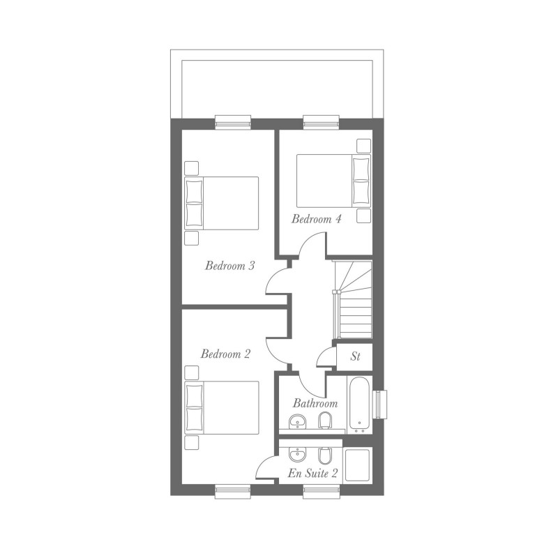 Totley Second Floor Floorplan
