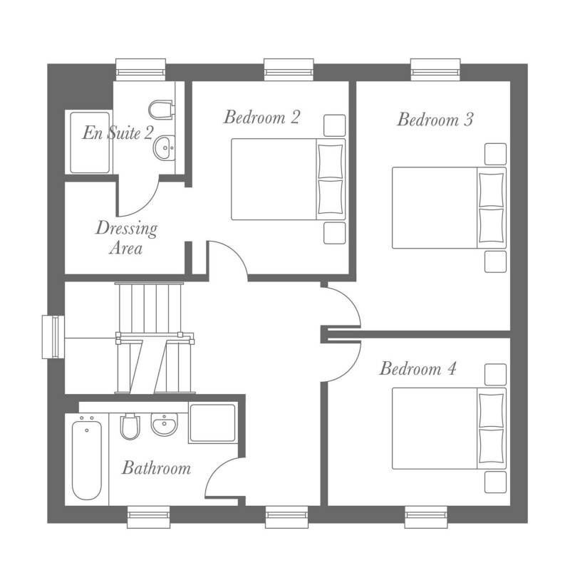 Whitebeam First Floor Floorplan