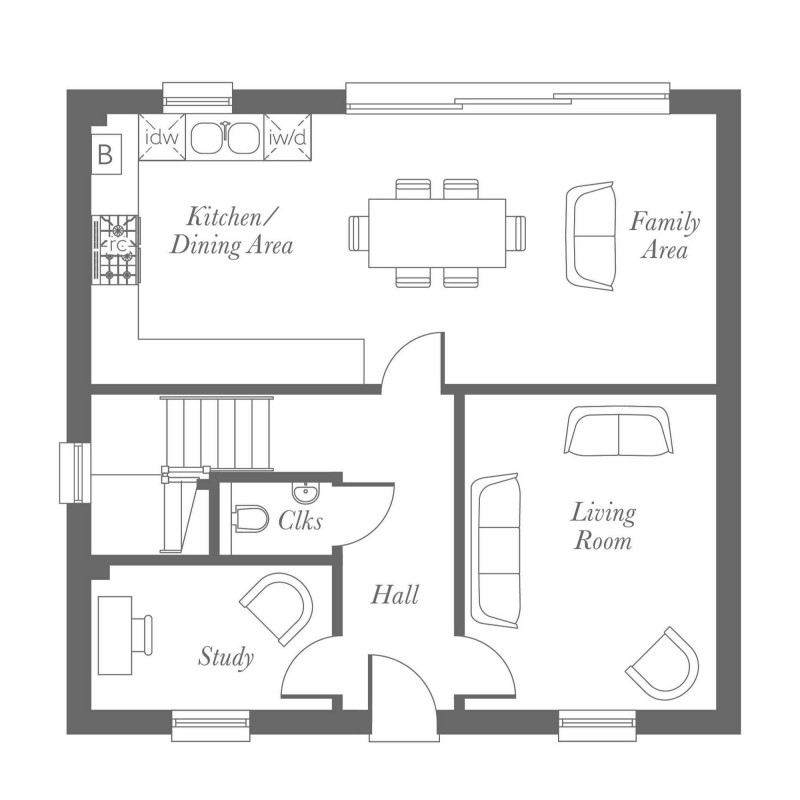 Whitebeam Ground Floor Floorplan
