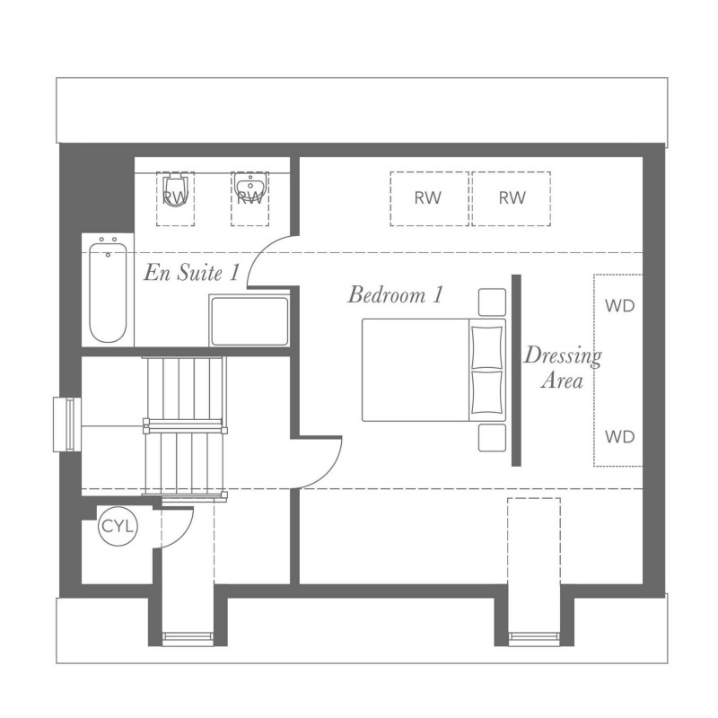 Whitebeam Second Floor Floorplan